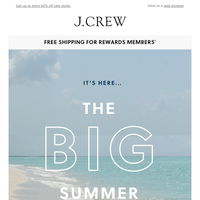 The BIG Summer Sale starts...now!