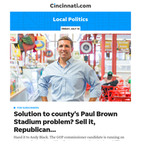Cincinnati.com Local Politics:PX column: Why selling Paul Brown Stadium is a noble idea but probably a non-starter. One stumbling block: NFL's Bengals