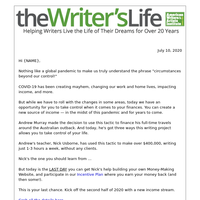 Control your writing income