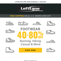 40-80% Off Footwear + New KEEN, Bolle, and Mons Royale