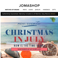 🚨 CHRISTMAS IN JULY : Extra 20% off Clearance • Flash Sale Events Now Live!