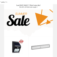 #Last DAY SALE !!! Don't miss this! Flat 60% off SALE ends tonight !!