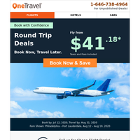 Confirmed: Fly from $41.18 Round Trip!