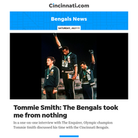 Bengals News:From Mexico City to Cincinnati: Olympic champion Tommie Smith reflects on time with Bengals