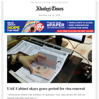Cabinet okays grace period for visa renewal; All of Abu Dhabi's hospitals are now Covid-free; Cardboard beds, the green idea against Covid