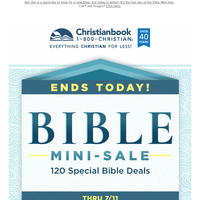 Ends Today: Bible Mini-Sale