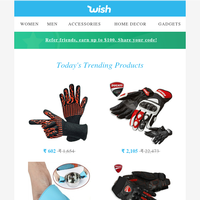 Today's free gift are these Waterproof High Tech Sports Gloves. 281 free gloves remaining...