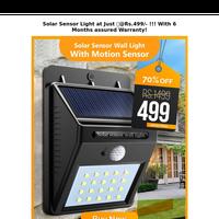 🛒LAST Hours SALE !! SOLAR Sensor Motion light Just@Rs.499/- TODAY !!