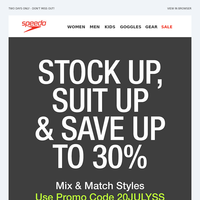 Mix & Match & Save up to 30%