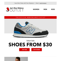 Limited Time Only! Shoes From $30!!