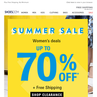 Up To 70% OFF! Women's Summer Sale Starts Now