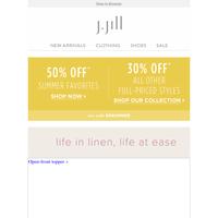 Pure Jill linen styles to wear all summer.