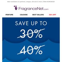 😄 Hi, it's FragranceNet.com! We're not joking about this: Up to 80% off