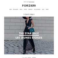 Email-only The STAR Sale @ LesJeunesEtoiles (5 days only)