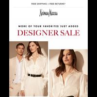 60% off Designer Sale additions from Saint Laurent, Dolce & Gabbana...