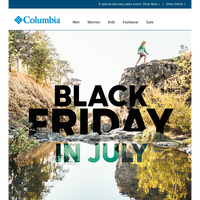 Black Friday in July starts now!