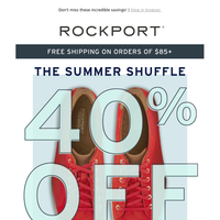 40% Off Sale & Outlet With Code SUMMERSHOES