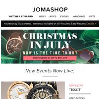 Rolex • Tissot • Carrera • Bulova • Christmas in July