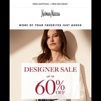 Don't miss 60% off Designer Sale faves! Valentino, TOM FORD & Escada