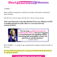 Elizabeth Warren is taking a STAND >>
