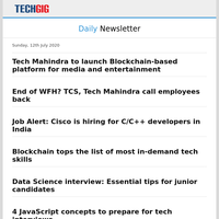 Tech Mahindra to launch Blockchain-based platform for media and entertainment   End of WFH? TCS, Tech Mahindra call employees back