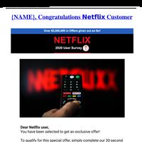 Congratulations Netflix Customer
