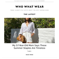 My 57-year-old mom says these summer staples are timeless