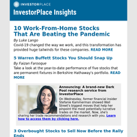 10 Work-From-Home Stocks Beating the Pandemic
