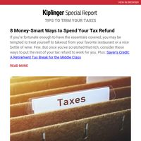 How to Spend Your Tax Refund Wisely
