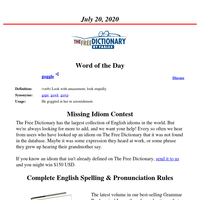 Word of the Day, July 20, 2020