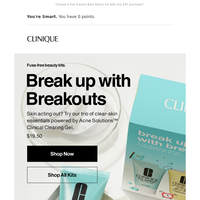 Quick-fix kit for breakouts.