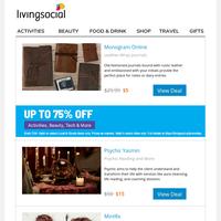 Leather-Wrap Journals + Mega Sale