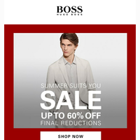 Final Reductions | Up to 60% Off