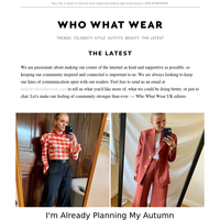 I'm already planning my autumn capsule wardrobe—here's what's on my list