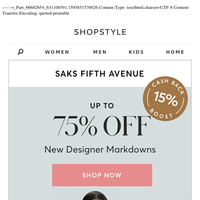 New Markdowns at Saks Fifth Avenue