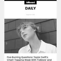 Five Burning Questions: Taylor Swift's Chart-Topping Week With 'Folklore' and 'Cardigan'