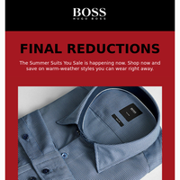 Final Reductions | Now 60% Off