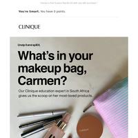 Makeup bag tell-all.