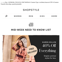 Trending Now: Staple Summer Styles at Browns, River Island ( + more)