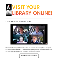 KCLS invites you to learn about expanded Curbside to Go, take a hike, master the video conference and more!