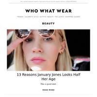 13 reasons January Jones looks half her age