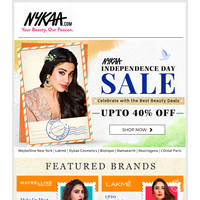 LIVE NOW: Nykaa Independence Day Sale 🎉