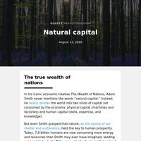 Natural capital: An unbalanced account
