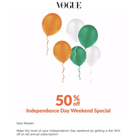 Independence Day Special: 50% off on Vogue subscription