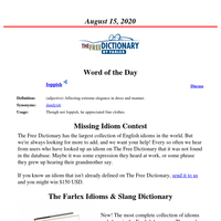 Word of the Day, August 15, 2020