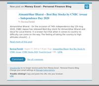 [New post] Atmanirbhar Bharat – Best Buy Stocks by CNBC Awaaz – Independence Day 2020