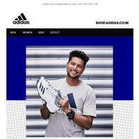 adidas Independence Day Sale-FLAT 50% OFF.
