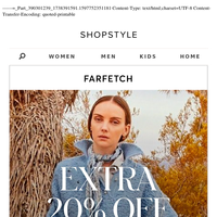 EXTRA 20% Off at Farfetch