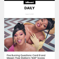 Five Burning Questions: Cardi B and Megan Thee Stallion's 'WAP' Scores Historic No. 1 Debut