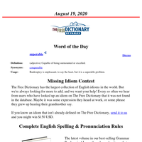 Word of the Day, August 19, 2020